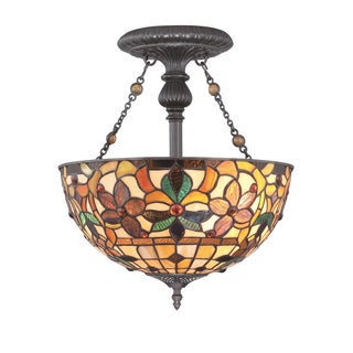 Kami 2-light Vintage Bronze Semi-Flush Mount