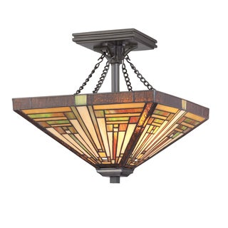 Stephen 2-light Vintage Bronze Semi-Flush Mount