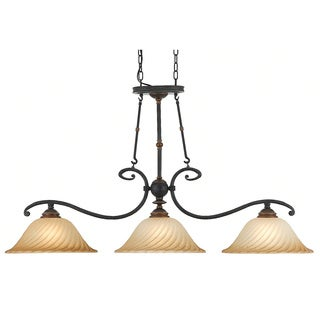 Quoizel 'Genova' Island 3-light Chandelier