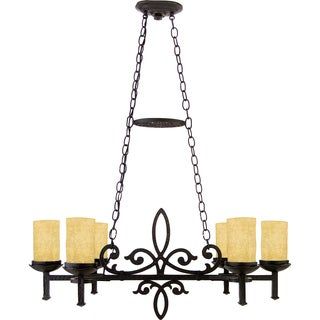 Quoizel 'La Parra' 6-light Steel Chandelier