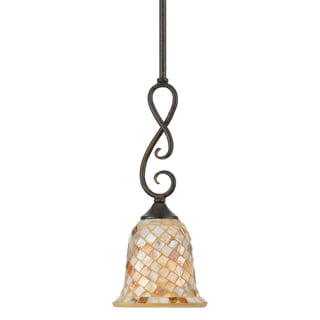 Quoizel 'Monterey Mosaic' 1-light Mini-Pendant