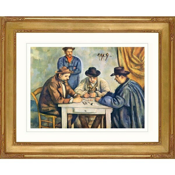 Paul Cesanne 'The Card Players' Giclee Framed Art