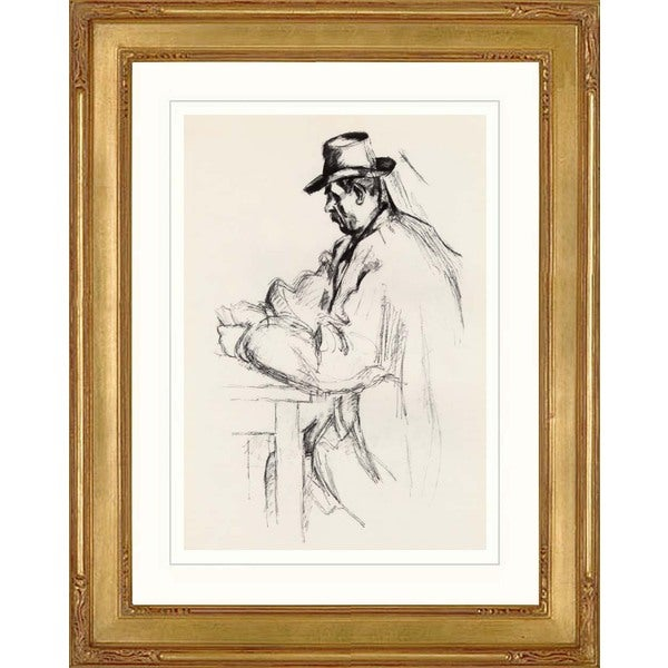 Paul Cesanne 'The Card Player' Giclee Framed Art
