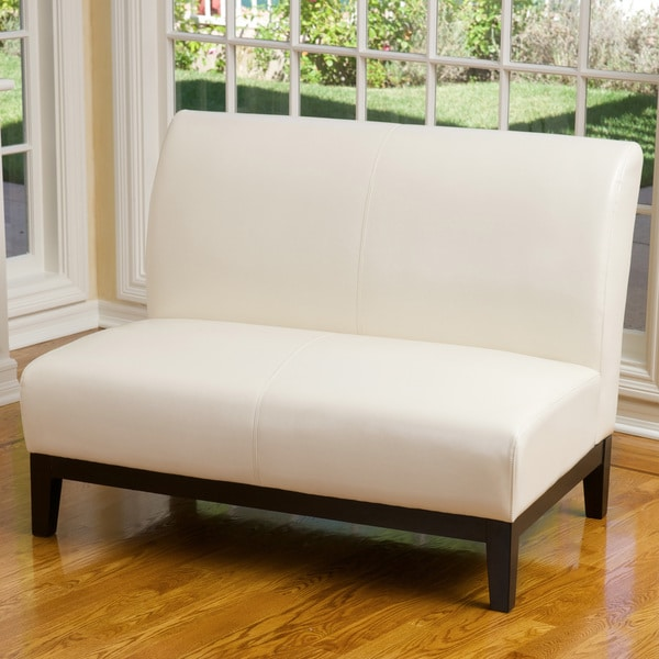 Darcy Ivory Leather Loveseat