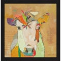 Jennifer Mercede 'Mom Cow' Framed Art Print