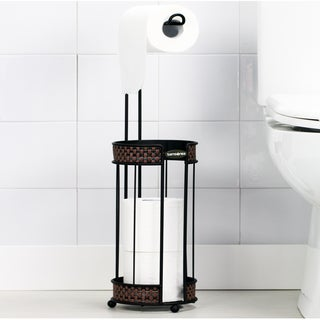 Oil-Rubbed Bronze Toilet Roll Reserve