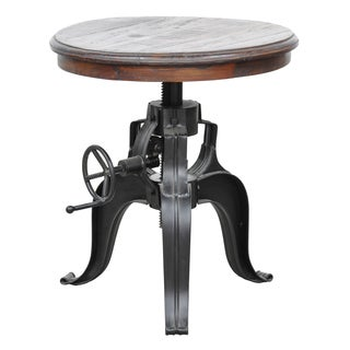 Niketa 22-inch Reclaimed Wood Crank Table