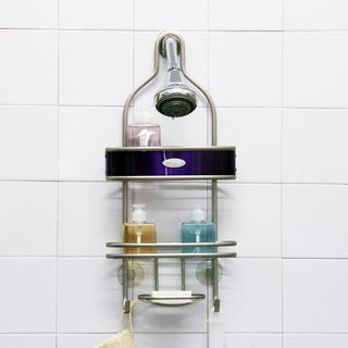 Samsonite Satin Nickel/ Lavender Shower Caddy