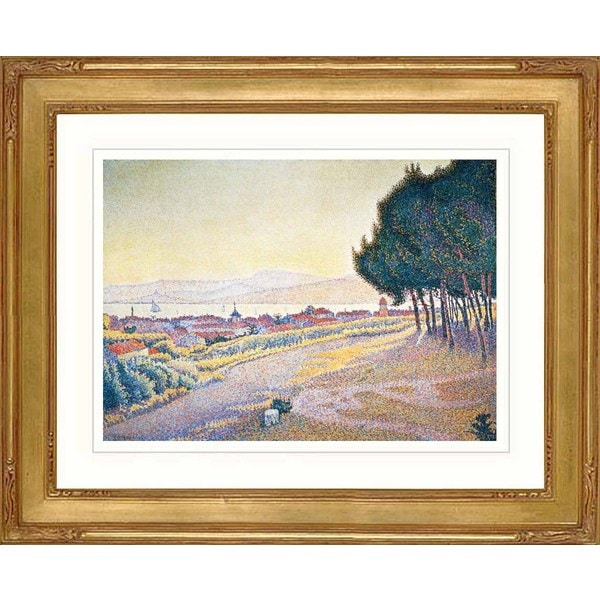 Paul Signac 'The sunset at Saint Tropez' Framed Giclee Print