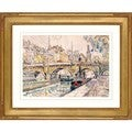 Paul Signac 'Tugboat and pont neuf' Framed Giclee Print