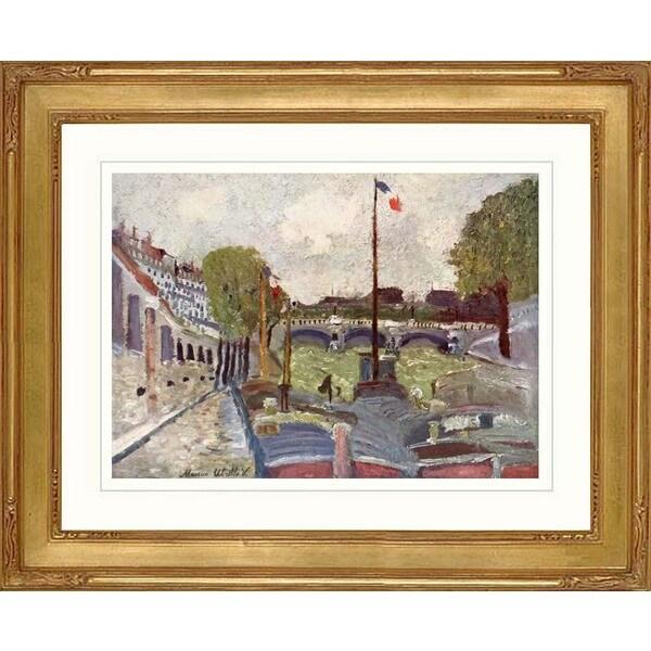 Maurice Utrillo 'Pont neuf' Framed Giclee Print
