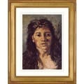 Vincent Van Gogh 'Head of a woman in hat' Giclee Framed