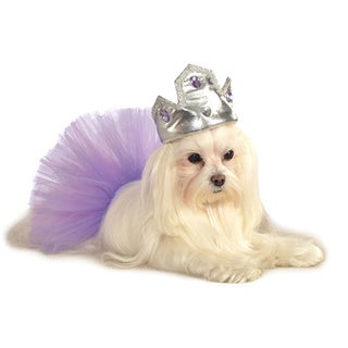 Rubies Silver Tiara WIth Purple Stones Pet Costume