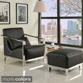 Ultra Modern Faux Leatherette/ Chrome Armchair