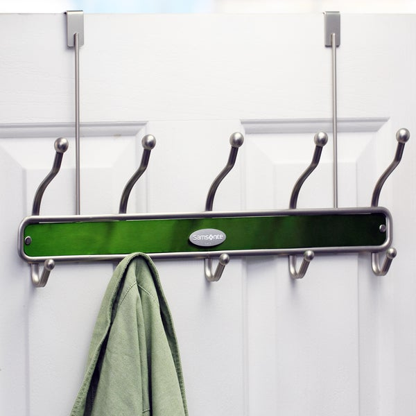 Samsonite Satin Nickel/ Light Green Door Hanger