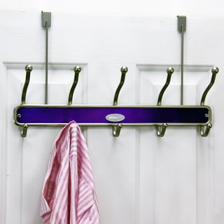 Samsonite 10-hook Satin Nickel/ Lavender Door Hanger