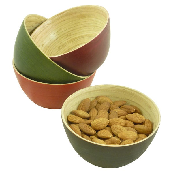 Bamboo Colored Bowl Set (Set of 4)