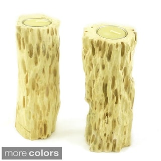 Drift Wood Candle Holder Set (Set of 2)