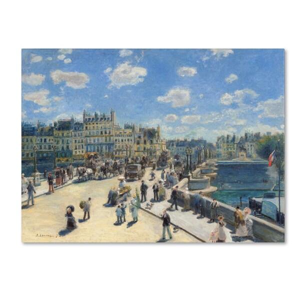 Pierre Renoir 'Pont Neuf, Paris 1872' Canvas Art