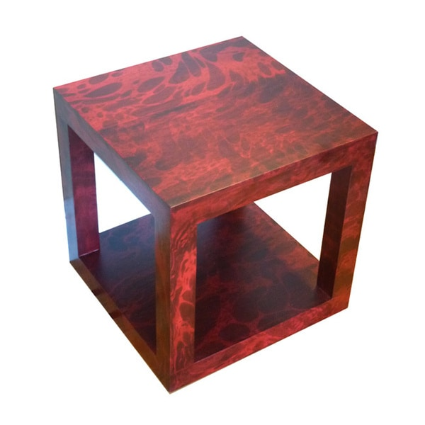 Mango Wood Cubed Accent Table (Thailand)