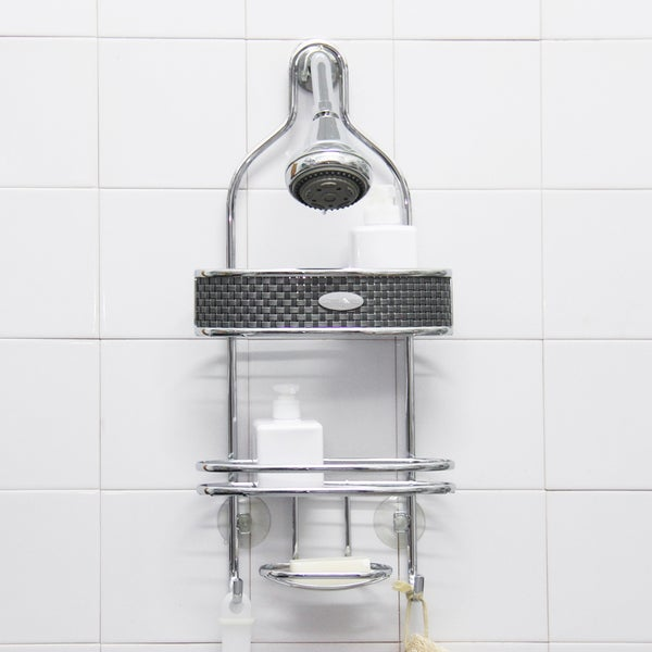 Samsonite chrome steel shower caddy 15883964 shopping the best prices on - The basics about shower caddies ...