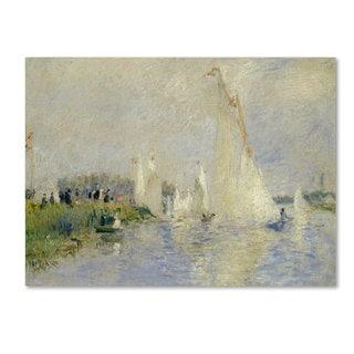 Pierre Renoir 'Regatta at Argenteuil 1874' Canvas Art
