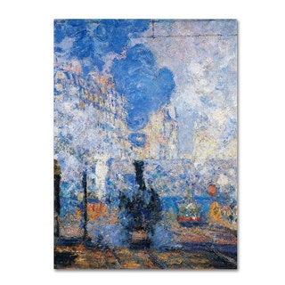 Claude Monet 'Saint Lazare Station' Canvas Art