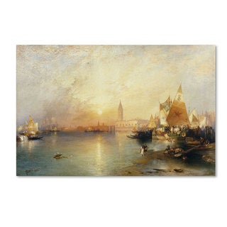 Thomas Moran 'Sunset, Venice 1902' Canvas Art