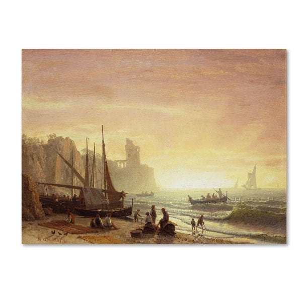 Albert Bierstadt 'The Fishing Fleet 1862' Canvas Art