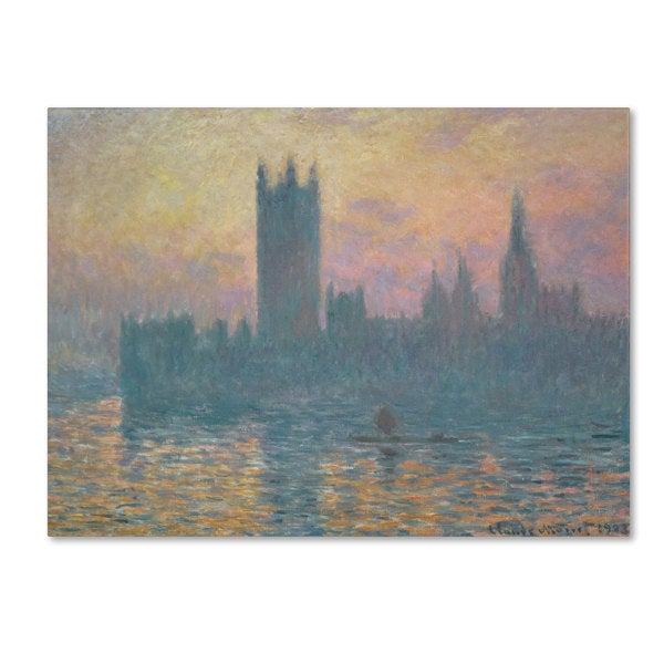 Claude Monet 'The Houses of Parliament Sunset' Canvas Art