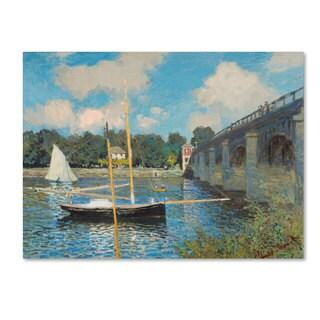 Claude Monet 'The Bridge at Argenteuil 1874' Canvas Art