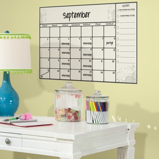 Scroll Dry Erase Calendar Peel and Stick Wall Decal