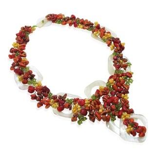 Modern Cabebe Rings Apple Corals Statement Necklace (Philippines)