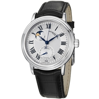 Raymond Weil Men's 2839-STC-00659 'Maestro' Silver Dial Moon Phase Automatic Watch