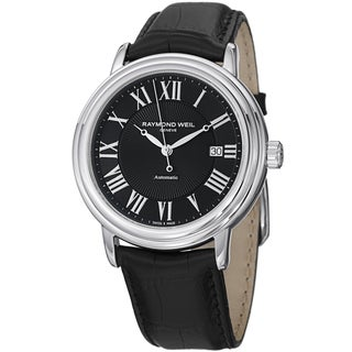 Raymond Weil Men's 2847-STC-00209 'Maestro' Black Dial Black Strap Automatic Watch