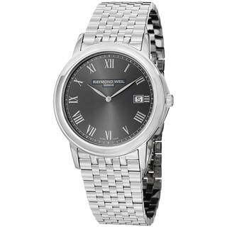 Raymond Weil Men's 'Traditional' Grey Dial Stainless Steel Watch