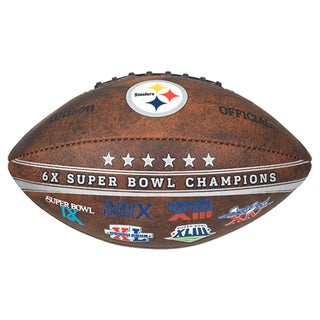 Pittsburgh Steelers 9-inch Leather Football