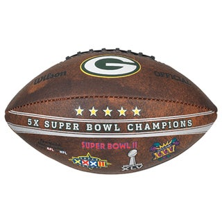 Green Bay Packers 9-inch Leather Football