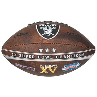 Wilson Oakland Raiders 9-inch Leather Football