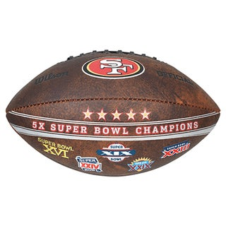 San Francisco 49ers 9-inch Leather Football