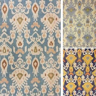nuLOOM Handmade Ikat Wool Rug (8'6 x 11'6)