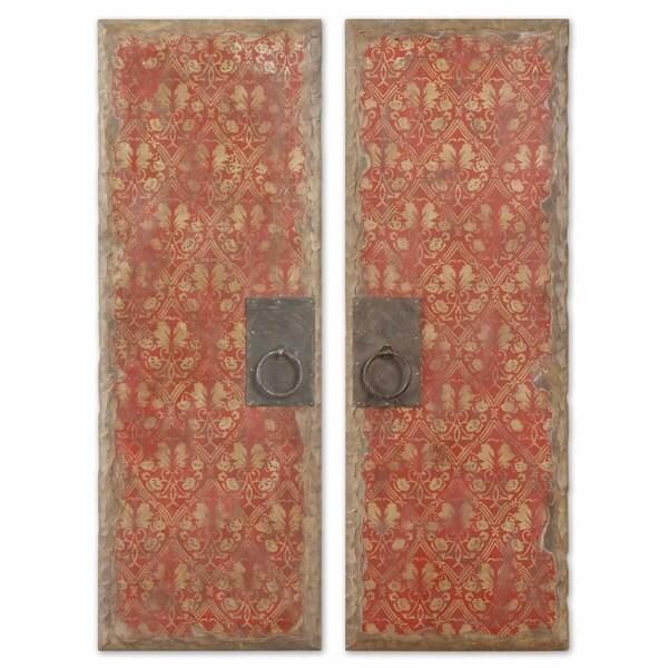 Uttermost Red Door Panels, Set of 2 12157583