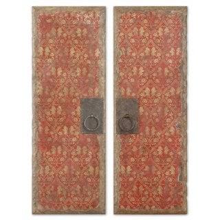 Red Door Panels, Set of 2