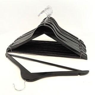 Black Wood Suit Hangers (Set of 8)