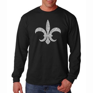 Los Angeles Pop Art Men's 'Louisiana' Long Sleeve T-shirt