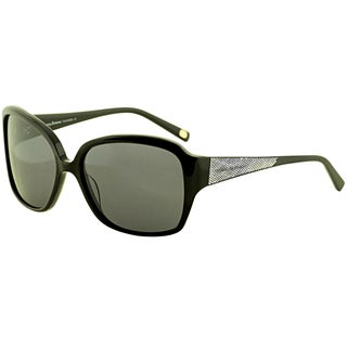 Tommy Bahama Women's 'TB7017 001' Black Polarized Sunglasses