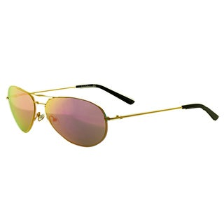 Nicole Miller Women's 'Moore C02' Yellow Metal Aviator Sunglasses