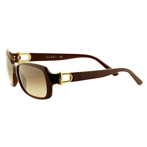 Nicole Miller Women's 'Minetta C03' Burgundy Plastic Sunglasses