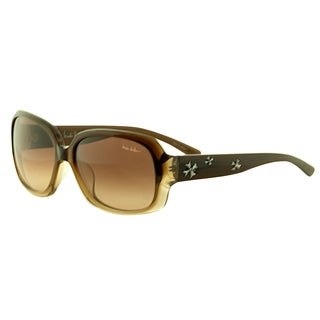 Nicole Miller Women's 'Pearl C03' Chocolate Brown Plastic Sunglasses