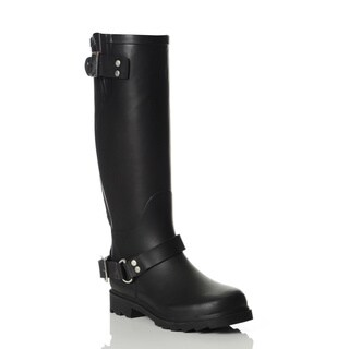 Henry Ferrera Women's Black Knee-high Rain Boots
